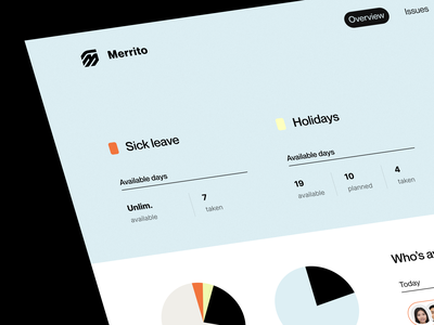 Merrito | HR management tool management app remote tool hr management system web tool employees tool human resources tool atomic system software hr app web app visual identity hr tool management tool sheduling tool dashboard product saas