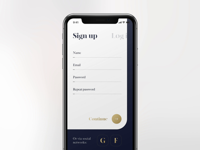 Daily UI #001 / Sign Up dailui daily 100 challenge daily 100 daily sign in registration login log in sign up animation concept design ui