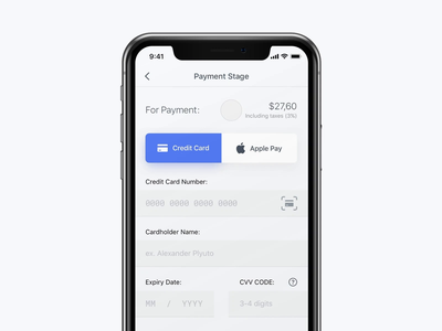 Daily UI #002 / Checkout daily 100 challenge daily challange dailyui daily 100 transfer money checkout payment pay credit card cvv card animation design zipl ux ui