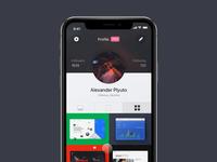 Daily UI #006 / Dribbble App Profile