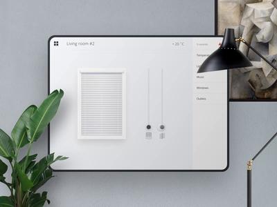Daily UI #008 / Settings. Smart house daily challange dailyui daily 100 smart house ios light ipad application app window concept animation design ux ui
