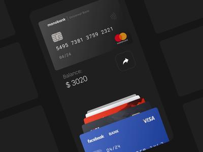 Smart Cardholder 💳 credit card animation card money transfer concept flipping picker carousel banking bank app ios app application balance credit card balance online banking finance credit card status money fintech