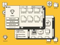 WinMac OS 1.0 | Sketch App & Finder