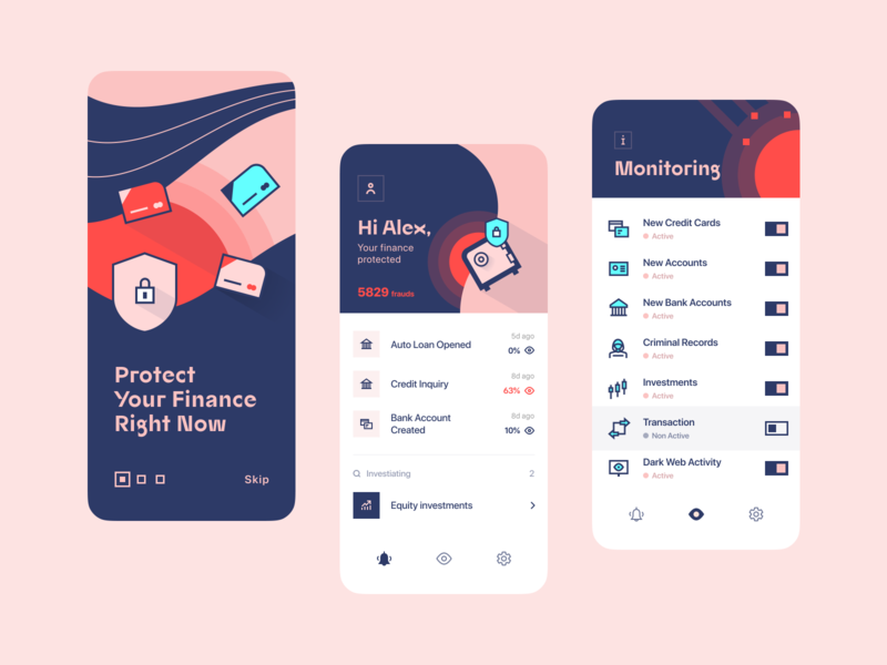 Monifin 🚨| Finance Anti-fraud application saas app saas finance saas app illustration finance control transaction account finance application application money protection finance protection security antifraud fraud finance monitoring monitoring system finance fintech