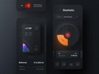 Skeuomorph Mobile Banking | Dark Mode 🌘