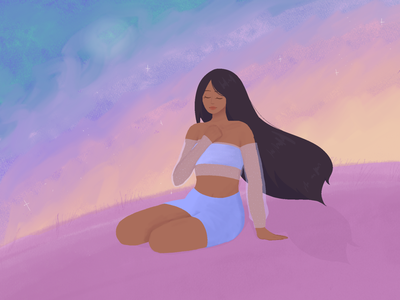 inner peace pastel colors procreate illustration