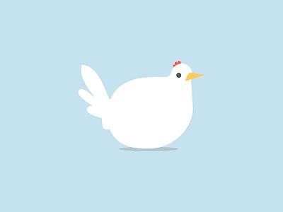 LazyChicken lazychicken flat minimal chicken logo