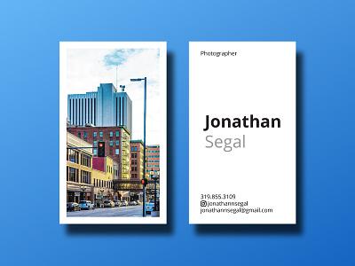 New Business Card minimal photo business card card