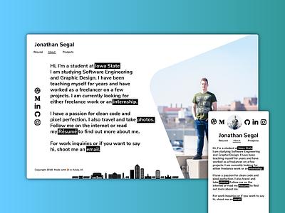 Personal Portfolio web design mobile student clean resume typography website portfolio personal