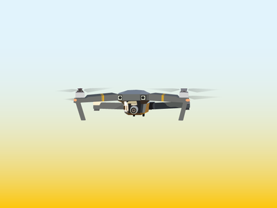 Stylized Drone stylized vector illustration drones