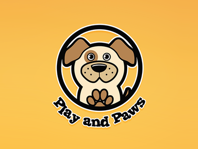 Play and Paws logo