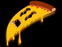 Screaming Pizza gooey cheese gooey melty cheese melting melty cartoon pizza procreate art procreate app procreateapp procreate illustration art