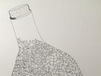 Stories in a bottle design illustrator illustration