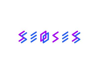 Seoses logo geometric symmetry grid logo