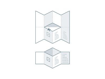 Folding instructions tutorial pictogram fold