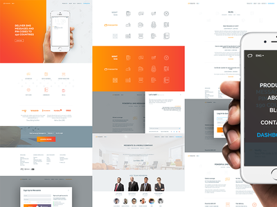 Messente web & mobile + iconset white light minimal brand stroke icons mobile web
