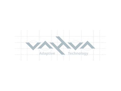 Vahva Logo symmetric symmetry ambigram brand grid geometric logo