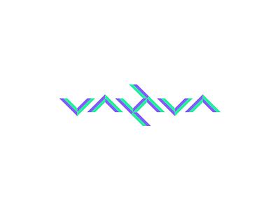 Vahva Colors synthpop vaporwave neon symmetric symmetry ambigram brand grid geometric logo