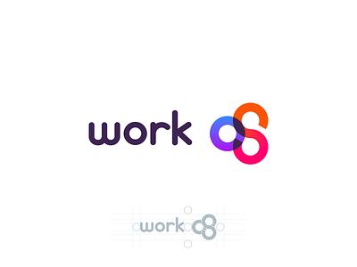 Work Os logo grid gradient overlay brand logo geometric
