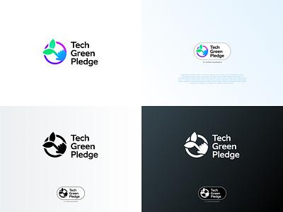 Tech Green Pledge logo 🌍 + trustmark 🐸 logo trustmark brand green eco