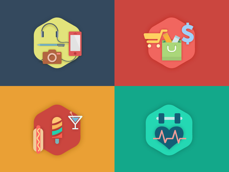 Juicy Dash freebie psd color icons iphone android red green ios app