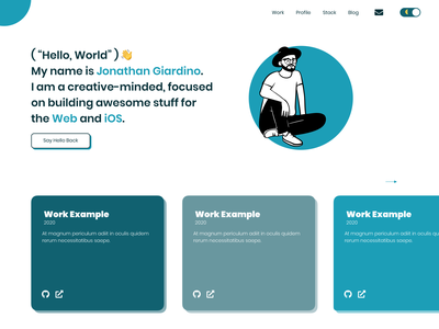Portfolio Design sketchapp sketch portfolio website portfolio design portfolio site portfolio minimal web app ux design