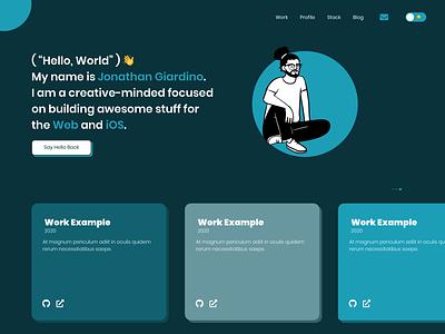 Portfolio dark mode dark mode sketchapp portfolio website portfolio site portfolio design minimal design