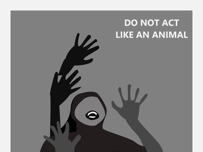 Don t be an animal illustration design