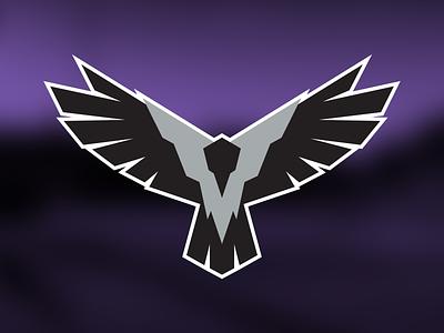 Grey Crows Logo baseball crows branding logo