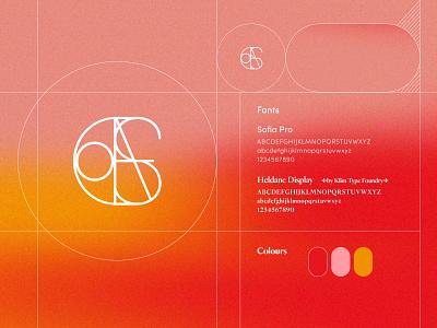 Personal Branding personal monogram vibrant typography branding illustration logo design