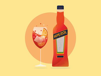 Aperol vector illustration design adobe graphic design aperol