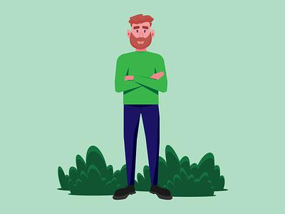 Bearded man beard vector illustration graphic design design adobe beardedman man