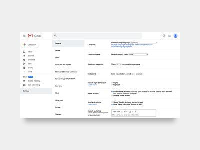 30 Days of Art: (15) Gmail Vertical Tab Navigation xd server mail email gmail minimal adobe xd adobe ux design ux ui design ui design