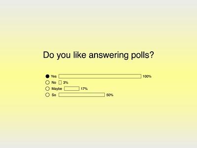 30 Days of Art: (22) Polls figma simple vote ui design ui polls poll opinion element design component brutalist brutalism