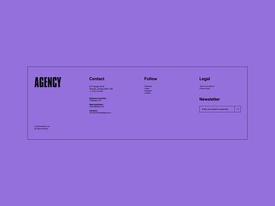 30 Days of Art: (23) Footer website simple section navigation minimal footer figma brutalism brutalist agency ui design ui design