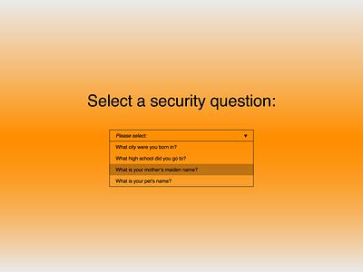 30 Days of Art: (24) Dropdown figma questions question security question list options option select dropdown element component brutalist brutalism ui design ui design