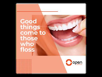 Open Dental Care Instagram Post instagram post ui illustration design