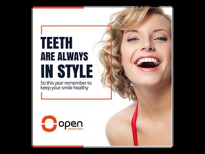 Open Dental Care Instagram Post instagram post illustration design