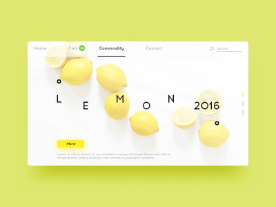 Lemon web ux ui shopping serenity pc extreme lemon yellow