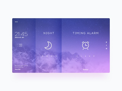Here180-Sleep blue web ux ui night serenity pc sleep extreme
