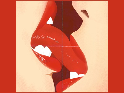 kiss kisses kissing kiss red design women eroticart erotica erotic illustration