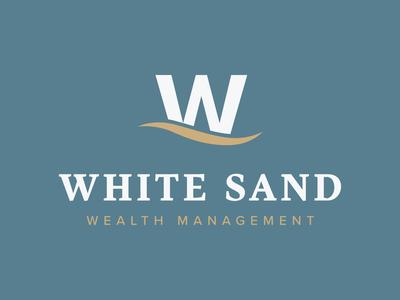 White Sand Wealth Management Logo white sand wealth management branding logo