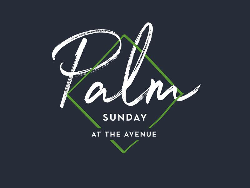 Palm Sunday church branding church lent