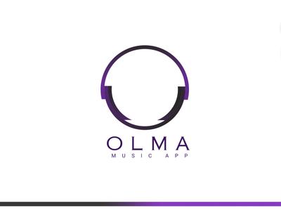 OLMA Logo purple creativity inspire inspiration app logo music app app icon music logo designer logo mark logo design logodesign logotype logos logo branding design illustrator creative ui