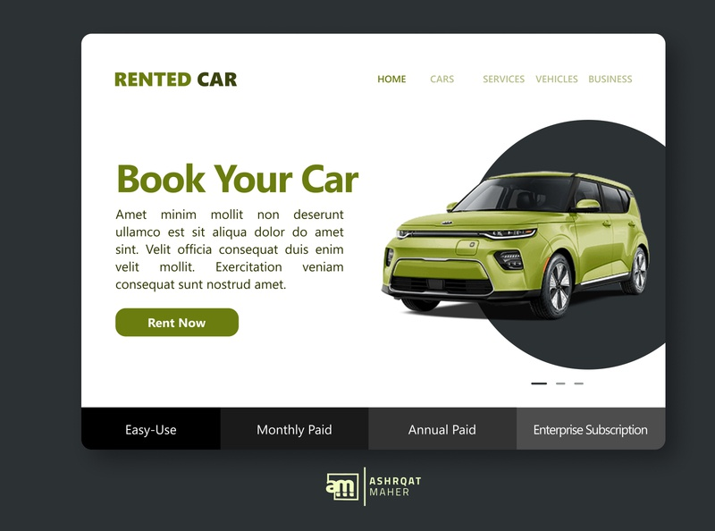 RENTED CAR app car white website design web design webdesign website web user interface userinterface ui design uidesign ui  ux uiux ux inspiration design creative inspire ui