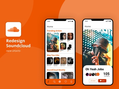 App Redesign-SoundCoud sound redesign concept redesign interface user interface userinterface ios android app design app uiux ui design website webdesign web uidesign creative inspire inspiration ui