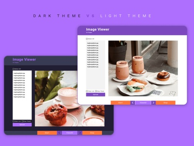 Desktop App | Image Viewer app design app interface figma dark purple creative inspireui inspired inspire inspiration web design website design website webdesign web ui design uidesign ui design