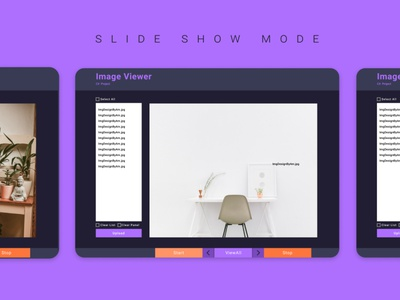 Desktop App | Image Viewer laptop application app design app dark app orange purple light dark desktop website webdesign web ui ui design uidesign inspire inspiration creative design