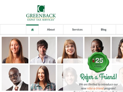 Greenback Homepage (concept) ui website homepage clean tax services green