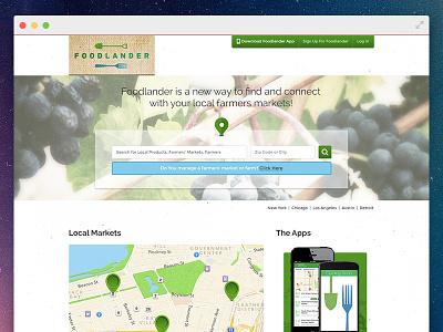 Foodlander Homepage (concept) ui website homepage clean foodlander farm local markets